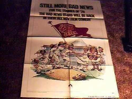 BAD NEWS BEARS GO TO JAPAN ADVANCE MOVIE POSTER 1978